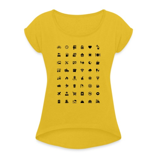 Picture Language - Frauen T-Shirt mit gerollten Ärmeln