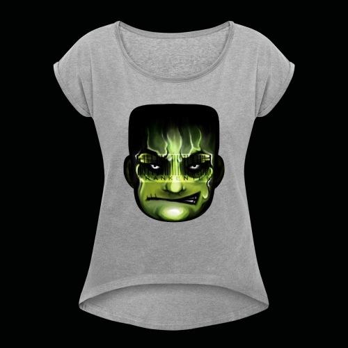 Frankenstein_logo - Vrouwen T-shirt met opgerolde mouwen