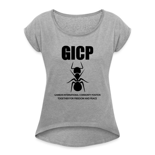 GICP T-SHIRT - Women's T-Shirt with rolled up sleeves
