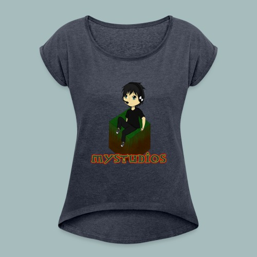 Mystudios Stylo - Frauen T-Shirt mit gerollten Ärmeln