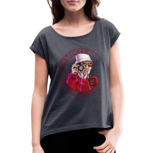 Rostock - Frauen T-Shirt mit gerollten Ärmeln