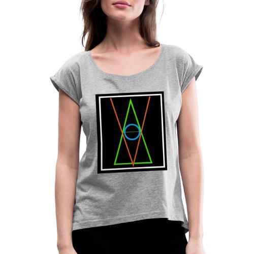 Logo Anonymous Voter - Camiseta con manga enrollada mujer