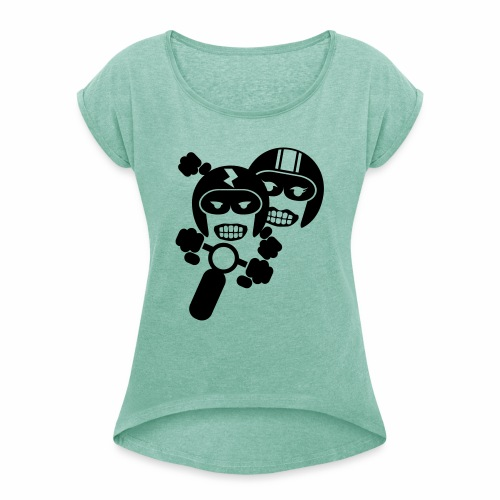 Motorcycle pair 1 - Women's T-Shirt with rolled up sleeves