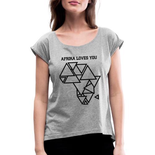 AI AFRIKA FORMS 01 - Frauen T-Shirt mit gerollten Ärmeln