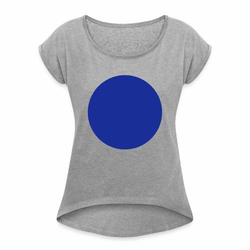 Blue blob - T-shirt à manches retroussées Femme