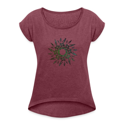 Tribale - Maglietta da donna con risvolti