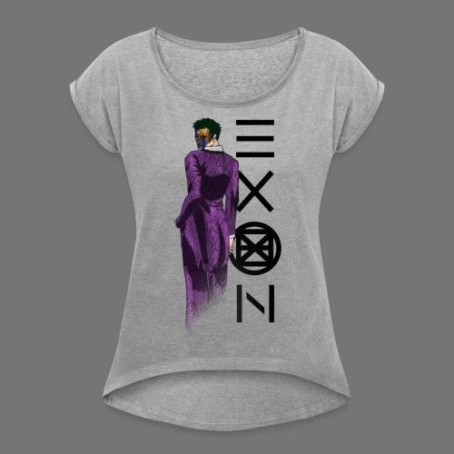 Emotionless Passion Exon - Women's T-Shirt with rolled up sleeves