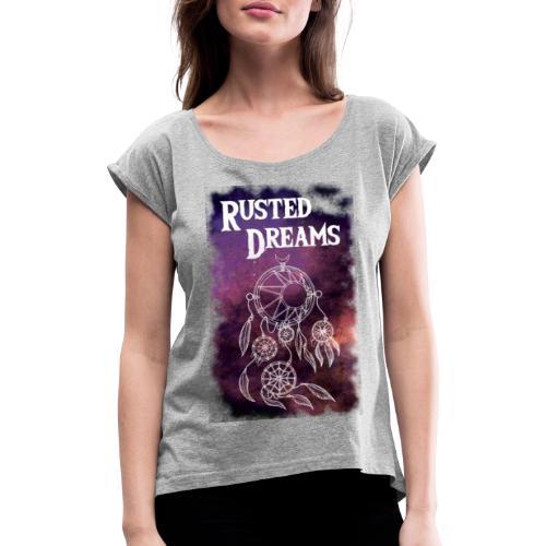RUSTED DREAMS DreamCatcher logo - Maglietta da donna con risvolti