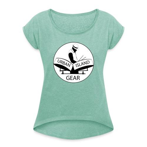 URBAN ISLAND GEAR - Dame T-shirt med rulleærmer