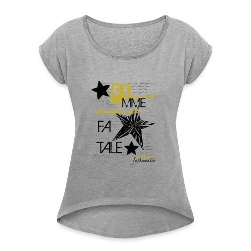 fatale - Maglietta da donna con risvolti