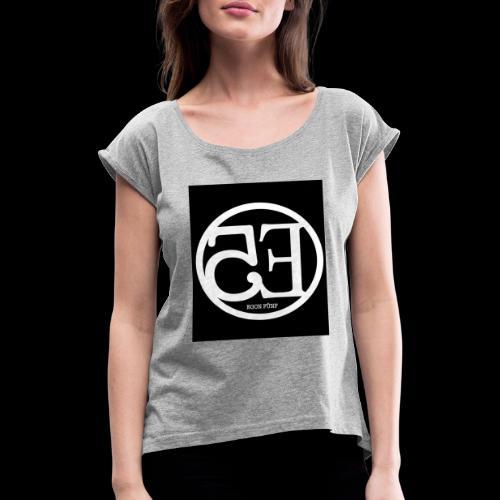 Egon2 - T-shirt med upprullade ärmar dam