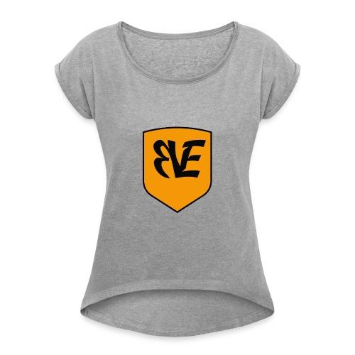 erfgooierslogo zonder tekst - Vrouwen T-shirt met opgerolde mouwen