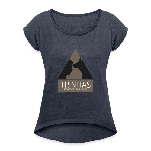 Trinitas Shirts - Dame T-shirt med rulleærmer