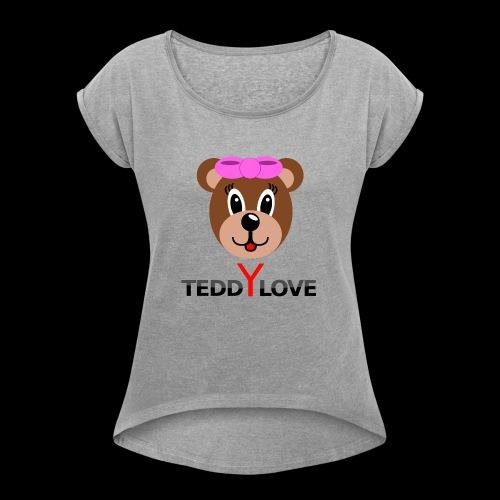 TEDDYLOVE Woman - Frauen T-Shirt mit gerollten Ärmeln