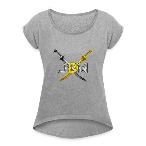 Jindeathwalk - T-shirt à manches retroussées Femme
