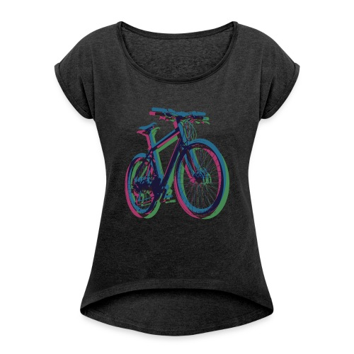 Bike Fahrrad bicycle Outdoor Fun Mountainbike - Women's T-Shirt with rolled up sleeves