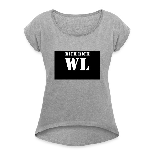wl - Vrouwen T-shirt met opgerolde mouwen