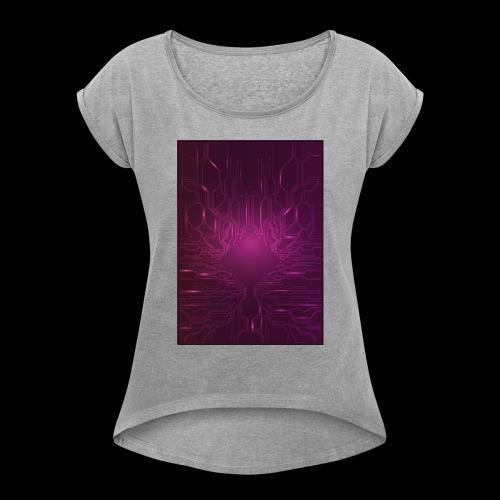 ElecGlow - Dame T-shirt med rulleærmer