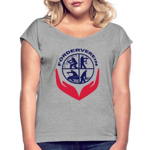 Symbol_FVFFG_3Color_NEU - Frauen T-Shirt mit gerollten Ärmeln
