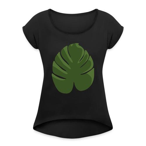 Green - Maglietta da donna con risvolti