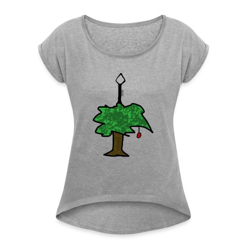 TREE OF FRUIT - Frauen T-Shirt mit gerollten Ärmeln