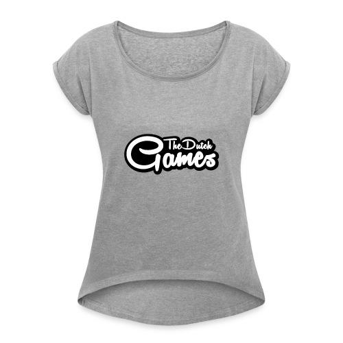 TheDutchGames Shirt - Vrouwen T-shirt met opgerolde mouwen