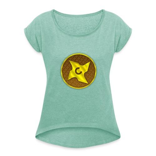 creative cap - Dame T-shirt med rulleærmer