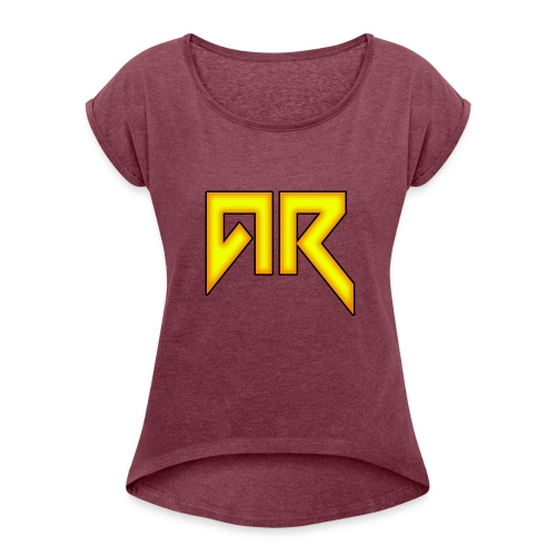 logo_trans_copy - Women's T-Shirt with rolled up sleeves