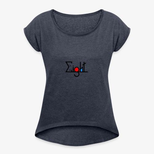 EIGHT LOGO - T-shirt à manches retroussées Femme