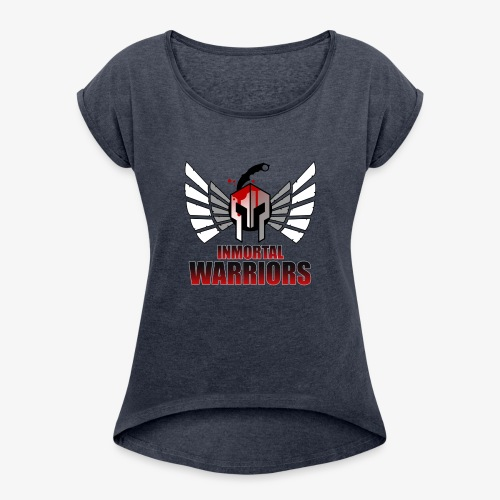The Inmortal Warriors Team - Women's T-Shirt with rolled up sleeves