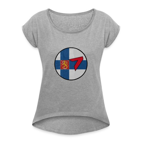 5 - Women's T-Shirt with rolled up sleeves