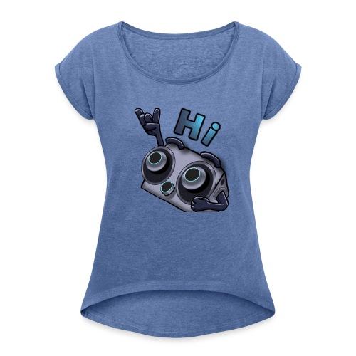 The DTS51 emote1 - Vrouwen T-shirt met opgerolde mouwen