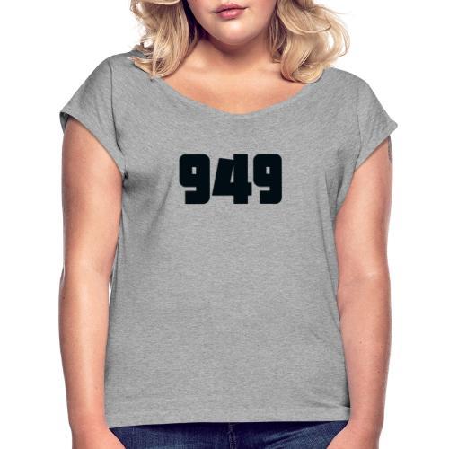 949black - Frauen T-Shirt mit gerollten Ärmeln