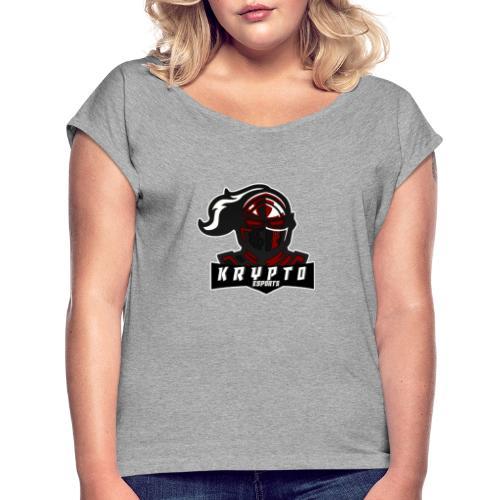 Krypto - Naisten T-paita, jossa rullatut hihat