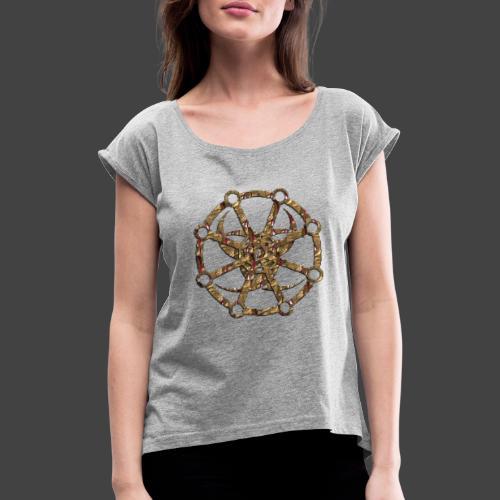 Finkianer Rune 2 - Frauen T-Shirt mit gerollten Ärmeln