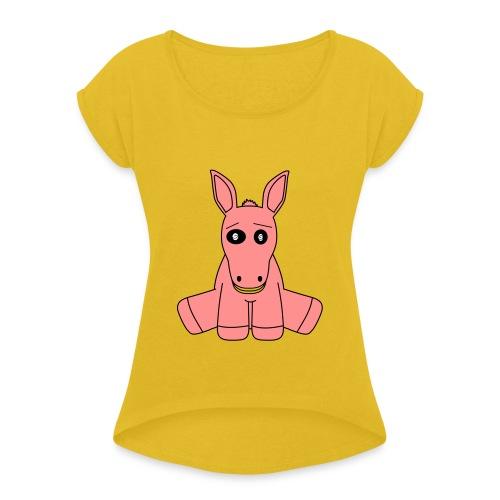 horse - Maglietta da donna con risvolti