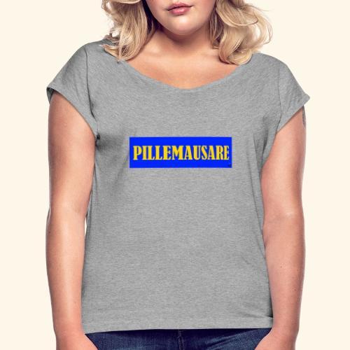 pillemausare - T-shirt med upprullade ärmar dam