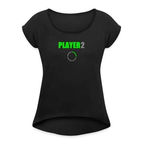 PLAYER 2 Videojuegos - Camiseta con manga enrollada mujer