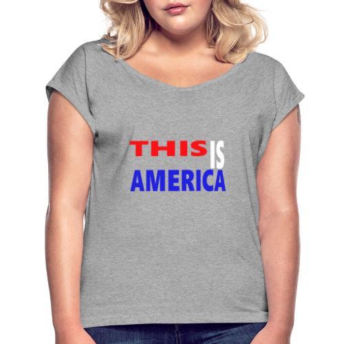 99999 - T-shirt à manches retroussées Femme