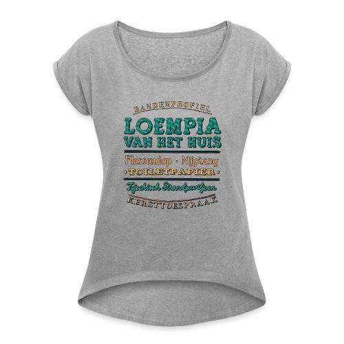 Bandenprofiel - Vrouwen T-shirt met opgerolde mouwen