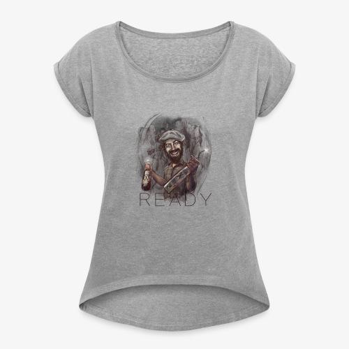 Party - Camiseta con manga enrollada mujer
