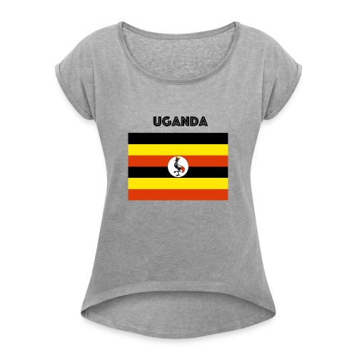 uganda shirt online - Women's T-Shirt with rolled up sleeves