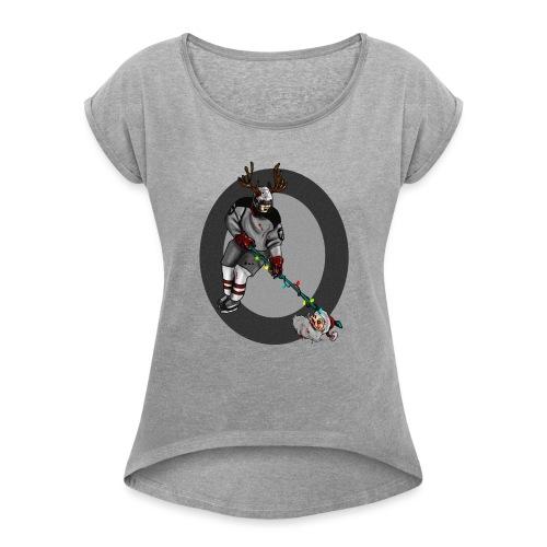 ¡FELIZ NAVIDAD! ... o algo. - Camiseta con manga enrollada mujer