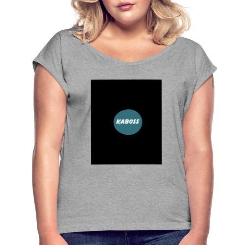 F9022F14 6A88 49CD 9526 52BA1D4681C9 - Frauen T-Shirt mit gerollten Ärmeln