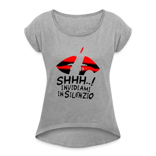 Maglietta Invidiamiot 2 - Maglietta da donna con risvolti