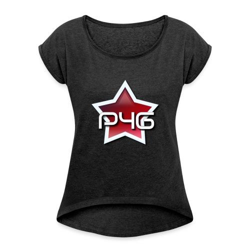 logo P4G 2 5 - T-shirt à manches retroussées Femme