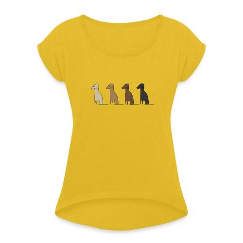 Logo Kusei - Frauen T-Shirt mit gerollten Ärmeln