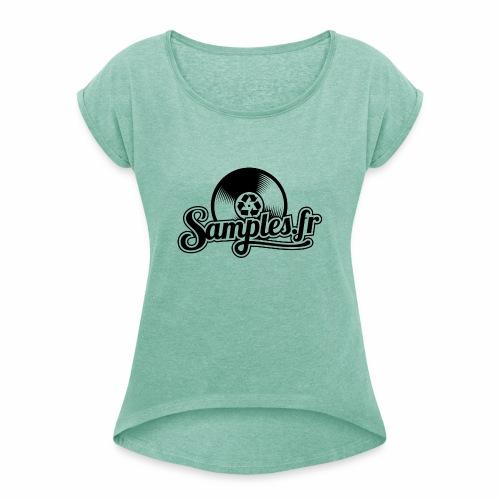 Gris / Noir (H / F) - T-shirt à manches retroussées Femme