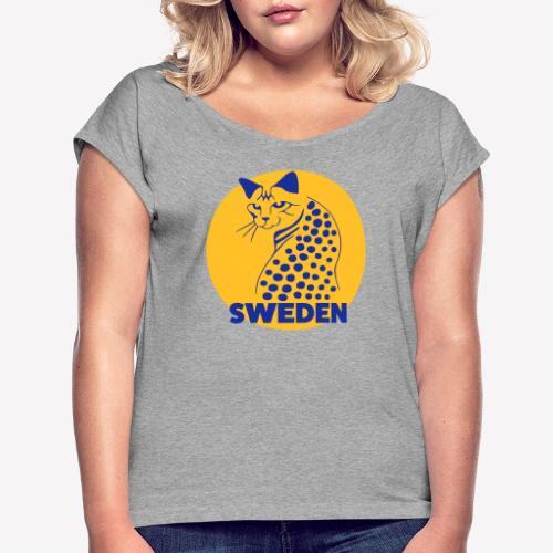 OCICAT SWEDEN - T-shirt med upprullade ärmar dam