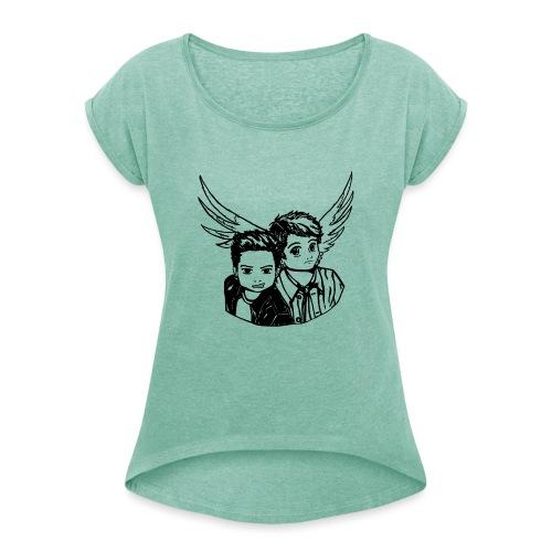 Destiel (Silhuet) - Dame T-shirt med rulleærmer